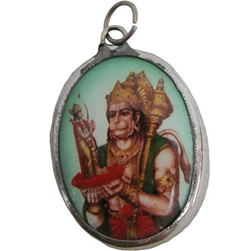 Krishna Dance Costume (Hanuman God of Strength and Loyalty Om/Ohm Yoga Reversible Meditation Pendant w/ Gift Pouch)