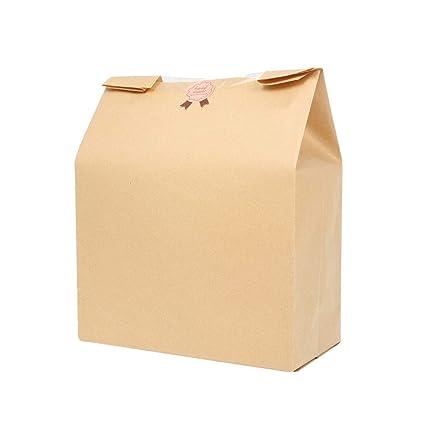 YUENA CARE 50PCS Bolsas de Papel Kraft - Bolsas de Alimentos ...
