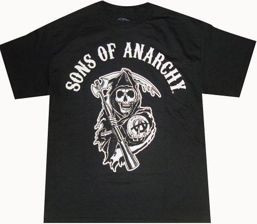 Sons Of Anarchy Soa Reaper Logo Adult T Shirt Xl