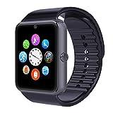 Eeoo GT08 Bluetooth 3.0 Smart Watch with Camera Sim- Gray/Black