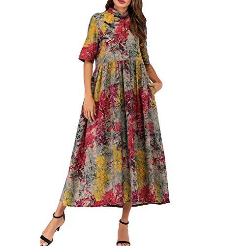 (UNBER Dress Women Size Long Maxi Party Dress for Loungewear Holidays Nightwear Beach Everyday Cover )