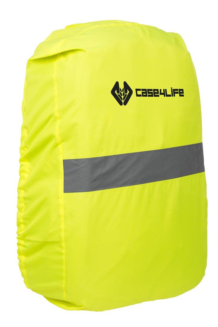 Case4Life Gelb Wasserdicht Hohe Sichtbarkeit Reflektierend Rucksack-Abdeckung
