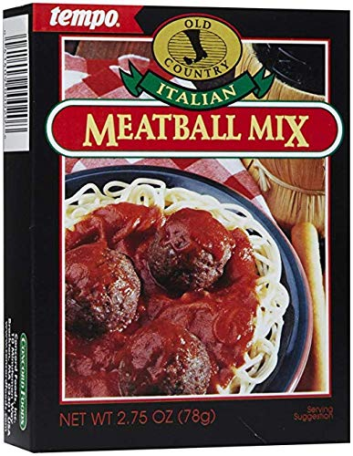 Tempo Farms Italian Meat Ball Mix, 6-Count Box of 2.75-Ounce Packets