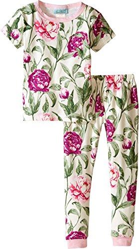 BedHead Kids Womens Short Sleeve Long Bottom Pajama Set (Toddler/Little Kids)