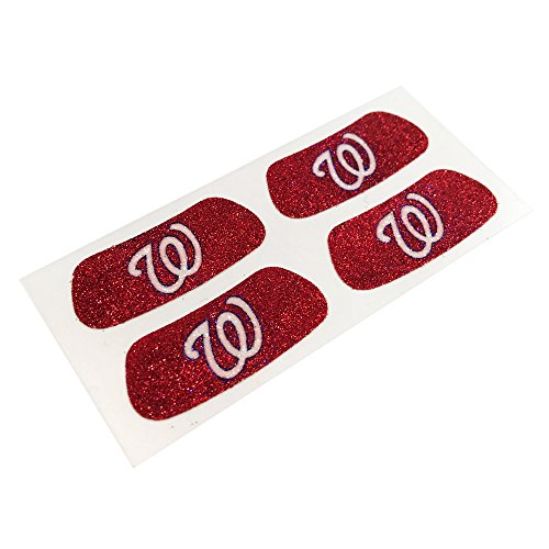 EyeBlack Washington Nationals MLB Glitter Eye Black Strips, Perfect for Game Day and Tailgate, 2 Pairs