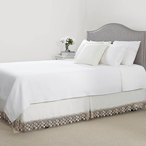 Bella Bed Linens (RENAISSANCE HOME FASHION LILLIAN Dust Ruffle with Macrame Band)