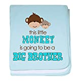 CafePress - Big Brother Monkey - Baby Blanket, Super Soft Newborn Swaddle