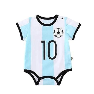 Amazon.com: allaibb Copa del Mundo Bebé recién nacido pelele ...