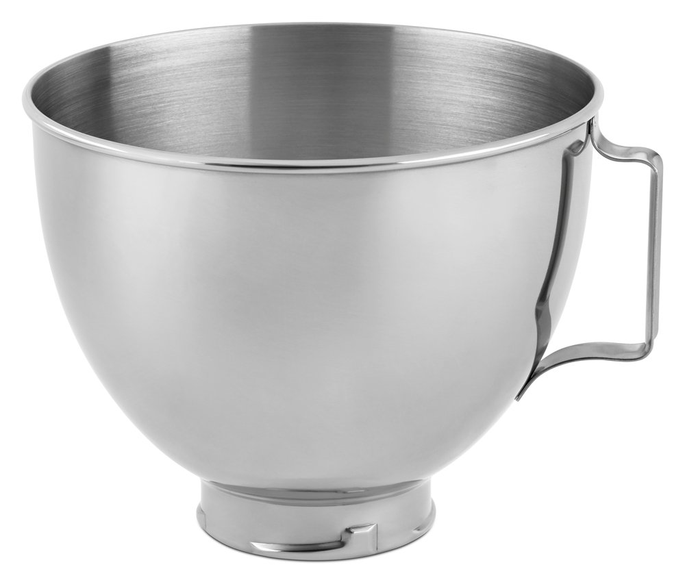 KitchenAid Stainless Steel Bowl K45SBWH, 4.5-Quart Burnished;Coated;Tilt;Head