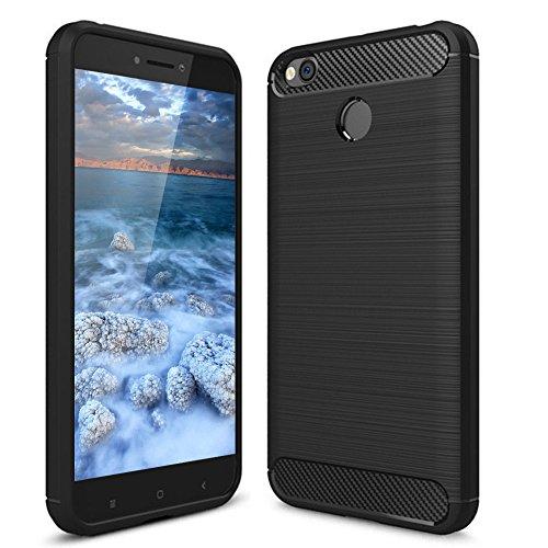 Funda Xiaomi Redmi 4X, POOPHUNS Carcasa Xiaomi Redmi 4X, TPU Silicona Carcasas Fundas Case Cover Caso Protectora, Ultra Slim, Anti-Rasguño, Anti-Golpes, Shock-Absorción, Resistente Huellas Dactilares, Funda Xiaomi Redmi 4X