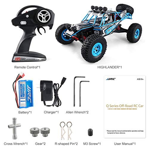 Susanda JJRC Q39 RC Car Highlander 1:12 4WD RC Desert Truck RTR 35km/H Fast Speed High-Torque Servo 7.4V 1500mAh LiPo Off Road Cars