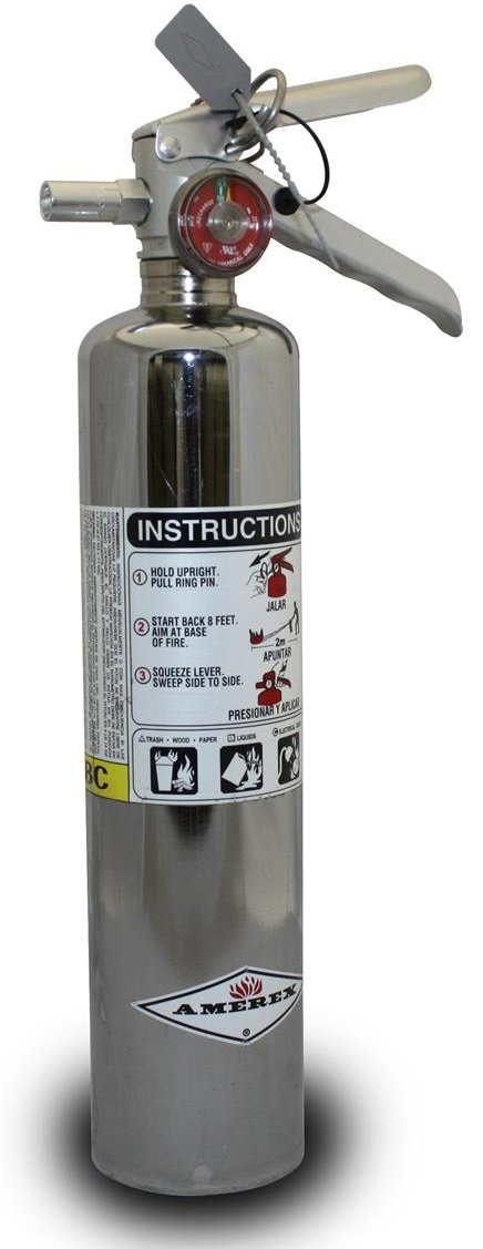 Dragonfire Racing 2.5 lb. Chrome Amerex Fire Extinguisher