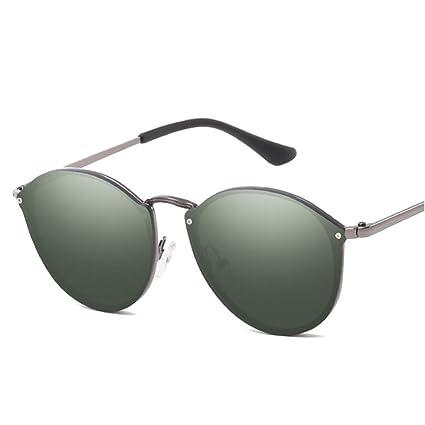 2017 Meine Damen Sonnenbrille Hälfte Metall Frosch Spiegel