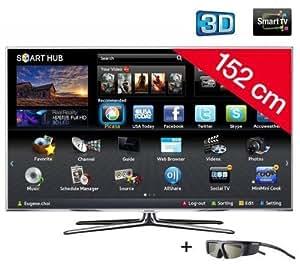 """Samsung UE60D8000 - Televisor Full HD, pantalla LED de 60"""", 3D, Smart TV, color negro"""