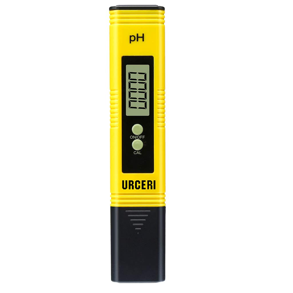 URCERI Digital PH Meter, PH Meter 0.01pH High Accuracy, Water Quality Tester with 0-14pH Measurement Range, for Household Drinking Water Swimming Pools Aquariums and Hydroponics by URCERI