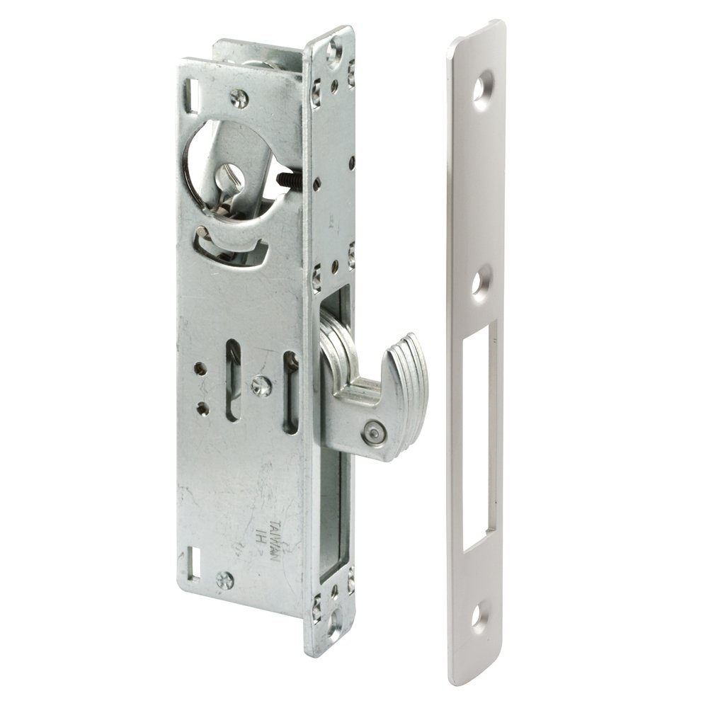 Prime-Line Products J 4558 Hook Style Door Mortise Deadlock with 1-1/8-Inch Backset, Aluminum Finish
