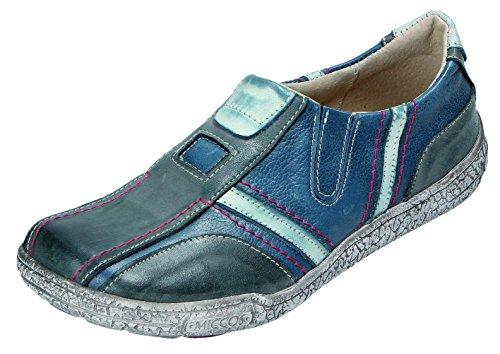 bleu à de MICCOS bleu gris pour gris ville lacets bleu Chaussures femme xFxqHvwtf