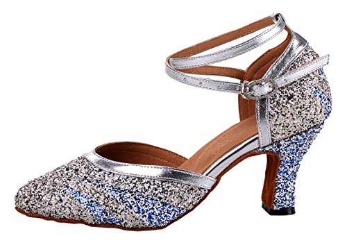 Multicolored Shoes Black Sequin Criss Women's Glitter Dance Cross Honeystore 6pqgXwx4p