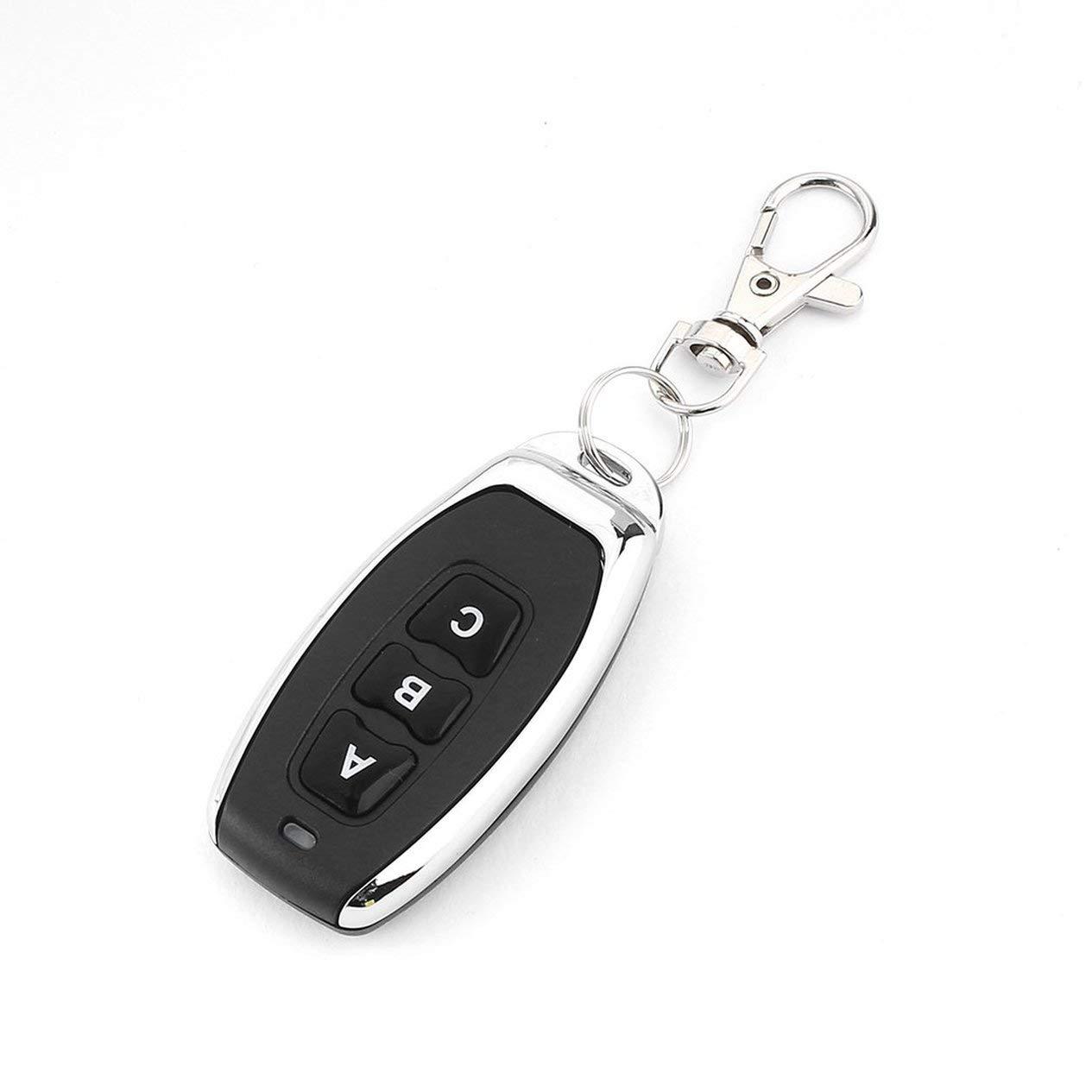 433MHz Wireless Metal 3 Key Garage Door Duplicator Learning Code Key Fob Control DC 6V Universal Copy Auto Car Alarm System