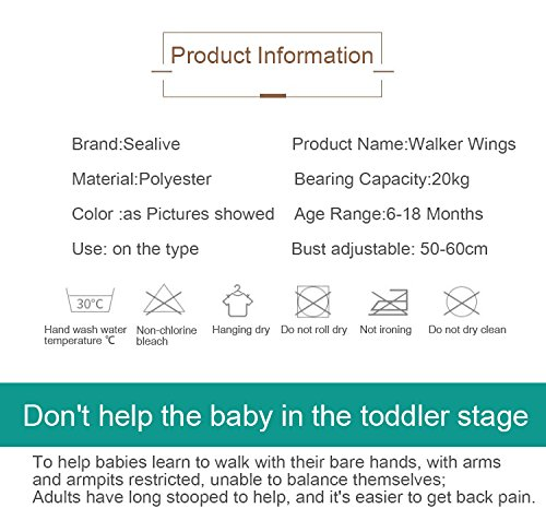 Sealive Handheld Baby Walker Learning To Walk Toddler Walking Baby Toys Adjustable Baby Learning Walker Safe Keeper,Soft and Breathable Walk Assistant,Great Helper For 6-18 Months Baby