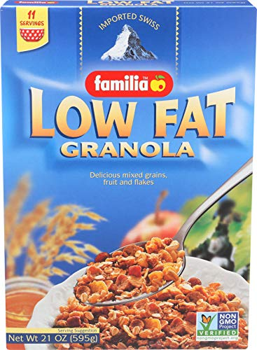 Familia Low-Fat Granola Cereal, 21-Ounce Box (Pack of 6)