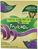 Stretch Island Fruitabu Rolls, Grape, 6-Count Rolls (Pack of 6)