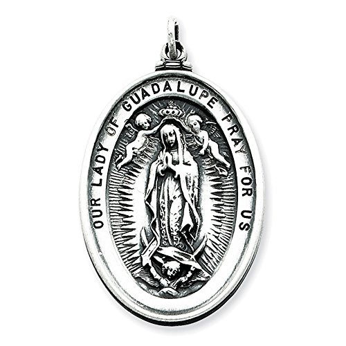Sterling Silver Our Lady of Guadalupe Medal QC3476