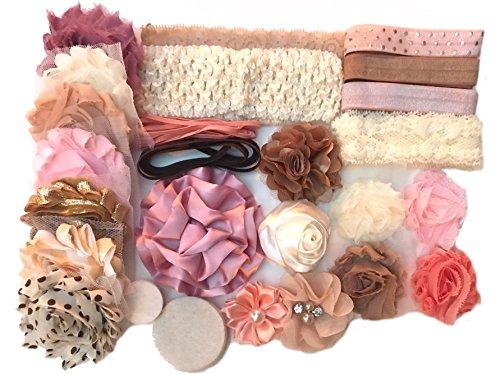 Bowtique Emilee Headband Kit DIY Headband Kit Makes Over 15 Headbands - Vintage Princess Mini -