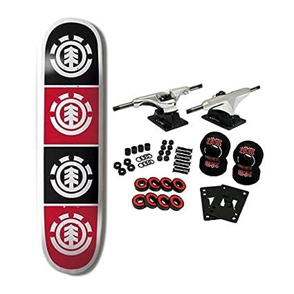 66e91cfe88 Amazon.com   ELEMENT SKATEBOARDS Complete Skateboard TEAM QUADRANT 8.0    Standard Skateboards   Sports   Outdoors