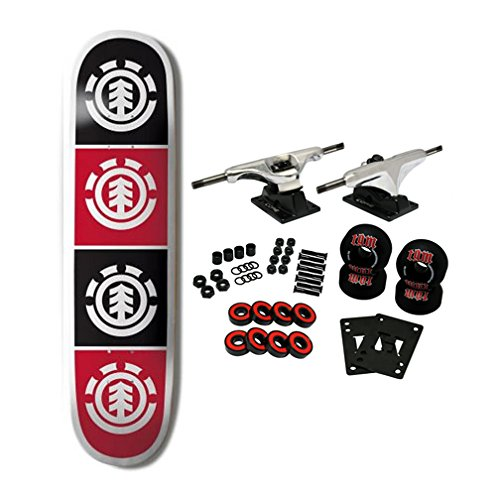 ELEMENT SKATEBOARDS Complete Skateboard TEAM QUADRANT 8.0 (Skateboard Wheels Element)