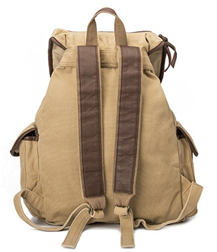 BUG Multi-function Unisex School Canvas Backpack Travel Bags for women men kids (granola)