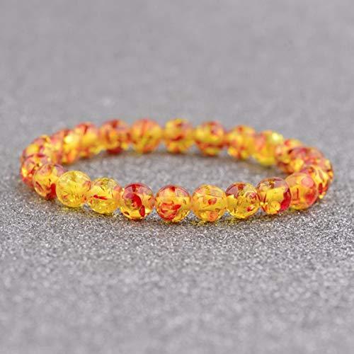 Werrox 8MM Owl Buddha Beaded Natural Lava Stone Gold Silver Charm Fashion Men Bracelets   Model BRCLT - 3844  