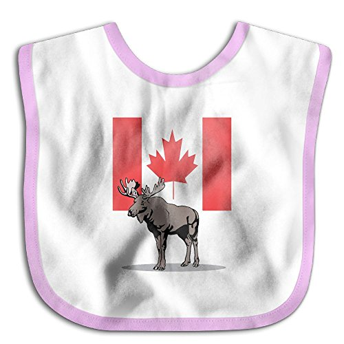 Price comparison product image Moose And Canadian Flag Baby Boys Girls Waterproof Bib