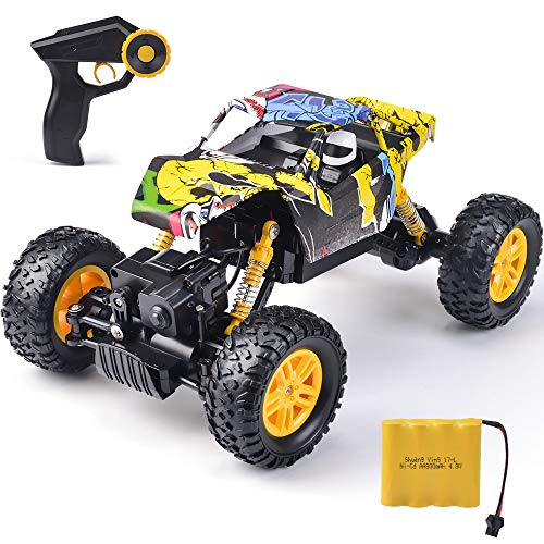 RC Car Off-Road Vehicles Remote Control Rock Crawler Cars Buggy 2.4Ghz 1:18 Monster Truck 4WD Dual Motors