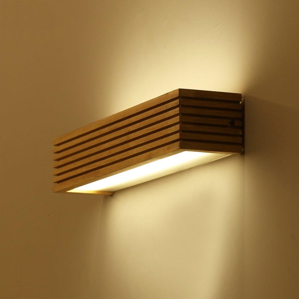 Massivholz-Spiegel-Frontleuchten gr/ö/ße : 16w55cm wasserdichtes Holz Beleuchtung Massivholz-Wandleuchte