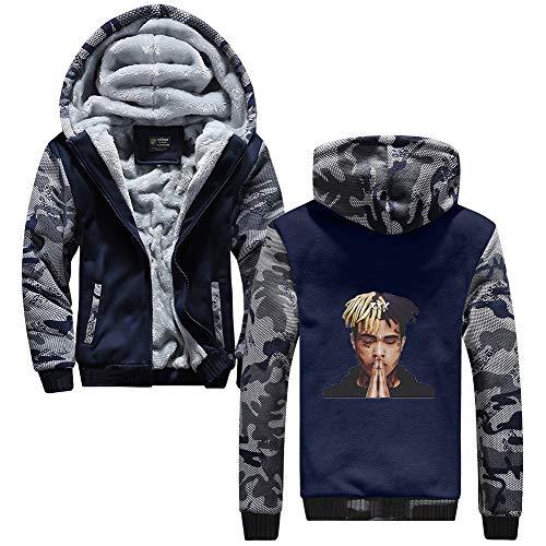Outwear Con Blue08 Gran Moda Capucha Tamaño Hombres Y Deportiva Xxxtentacion Sudadera Unisex Top Para Aivosen Terciopelo Sweatshirt Mujeres Más tHwqUXx