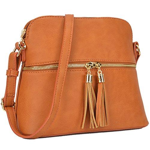 Dasein Lightweight Medium Crossbody Bags Handbags Cute Purses Chic Shoulder Bags with Tassel