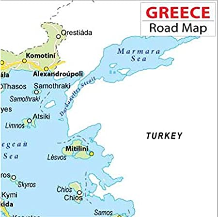 Amazoncom Greece Highway Map 36 W x 3597 H Office Products