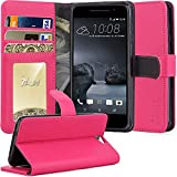 HTC One A9 Case, TAURI [Stand Feature] Wallet Leather Case with Stand, ID & Credit Card Pockets Flip Cover Protective Case For HTC One A9 - Hot Pink