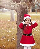 Lilax Girls Holiday Christmas Santa Dress with Hat