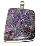 Charoite Pendant 08 Extra Large Natural Spiritual Healing Crystal Energy (Gift Box)
