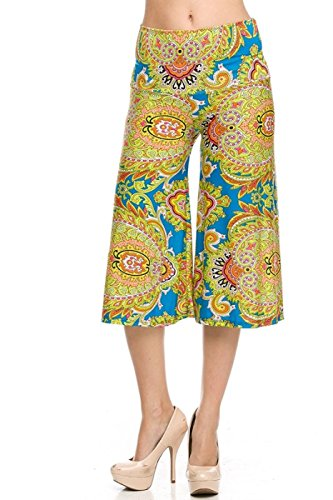 2LUV Women's High Waisted Printed Culotte Goucho Pants for sale  Delivered anywhere in USA