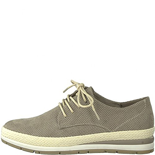 Marco Tozzi Women's Low-Top Dark Beige E2DfZ8