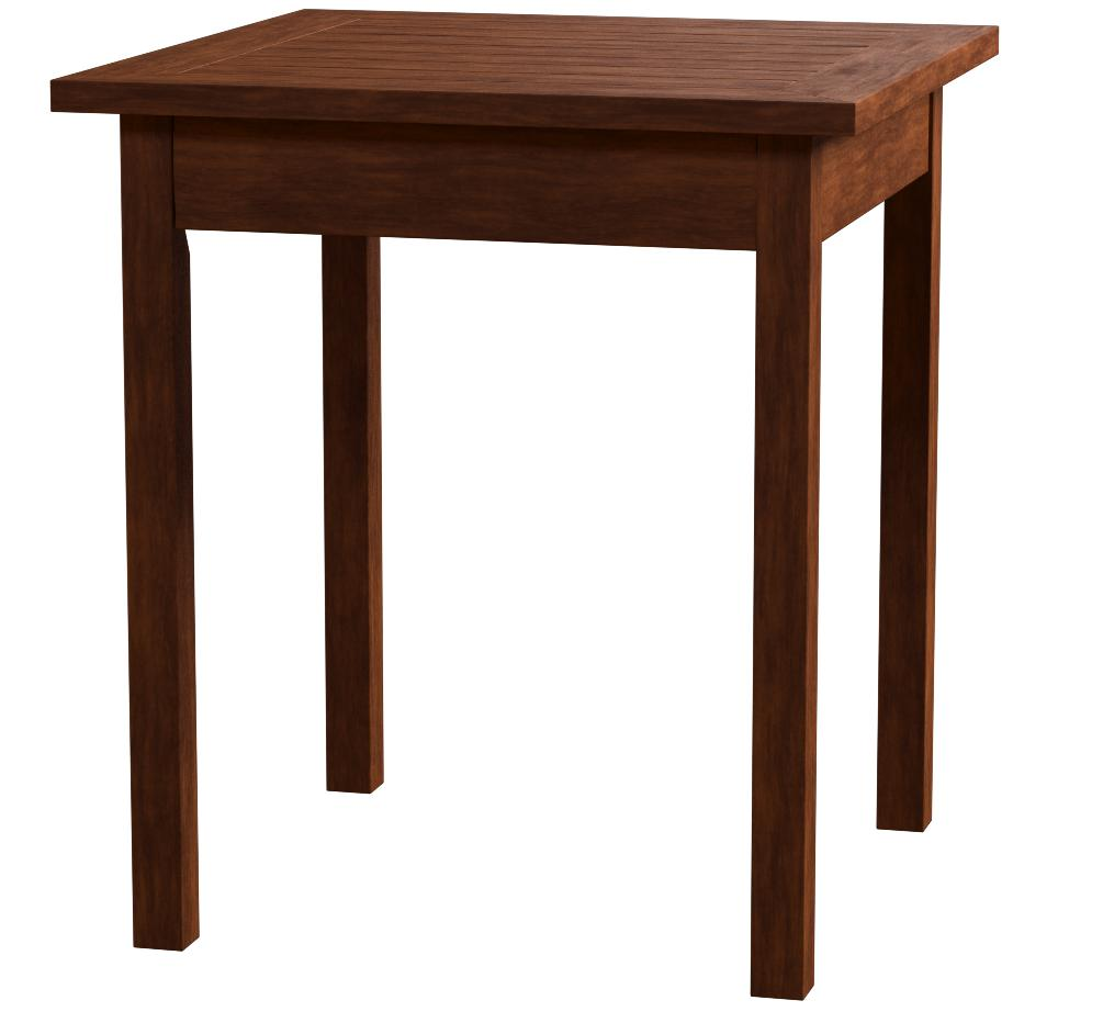 Natural Plow /& Hearth 62A36-NT Eucalyptus Wood Side Table 18 x 20