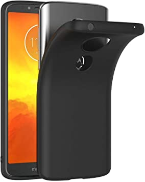 AICEK Funda Moto E5, Negro Silicona Fundas para Motorola Moto E5 ...