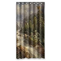 NASAZONE Polyester Beautiful Scenery Landscape Painting Bath Curtains Width X Height / 36 X 72 Inches / W H 90 By 180 Cm Gift Or Decor For Relatives Her Father Teens Her. Waterproof Mate