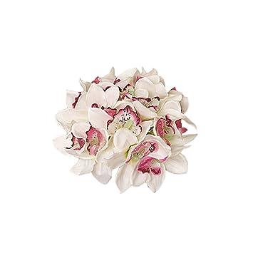 Bouquet De Mariee Orchidee Papillon Fleur Artificielle Pour Mariage