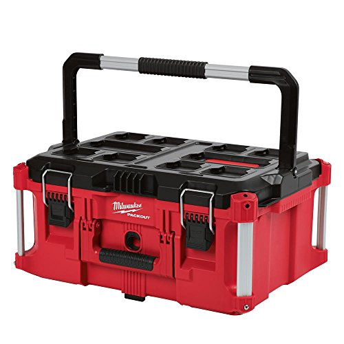 Heavy Duty, Versatile And Durable Modular Storage System PACKOUT 22 in. Large Tool Box By Milwaukee, Interior Organizer Trays, Heavy Duty Latches Large System Box