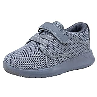 COODO Toddler Kid's Sneakers Boys Girls Cute Casual Running Shoes (2 Little Kid,New Grey)