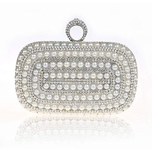 Womne's Color sera di Silver Party Evening Cocktail paillettes Bag sera Borsa Borsa Borsa sera Wedding Crystal Clutch da Xiaoqin Borsa Red da Purse da da da Sacco sera Ricamo donna qwpHwFCzx